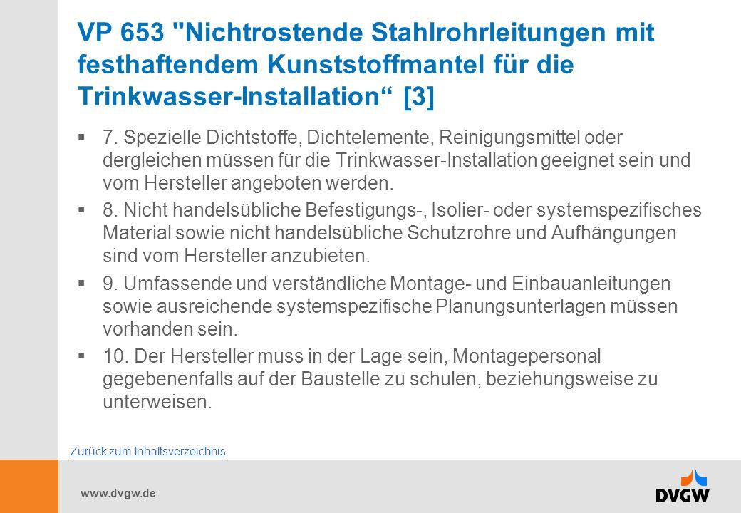 VP 653 Nichtrostende Stahlrohrleitungen mit festhaftendem Kunststoffmantel für die Trinkwasser-Installation [3]